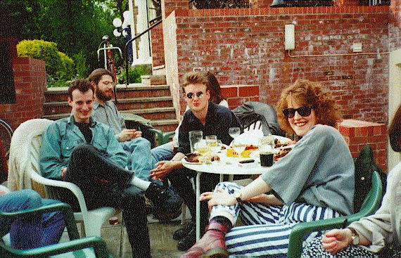 A rabble of palaeontologists circa. 1993 (LIA in   shades)