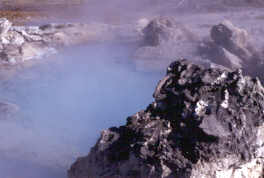 The hot water pool of Porkcjop Geyser.